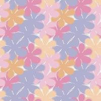 Floral seamless pattern, large flowers in pastel colors. Vector illustration