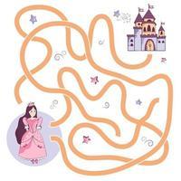 Maze game with princess vector