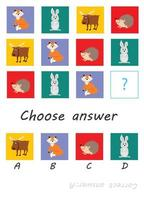 choose answer animals vector