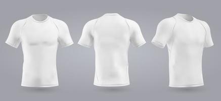 Camiseta de fútbol blanca con diseño entallado y cuello redondo. ilustración vectorial vector