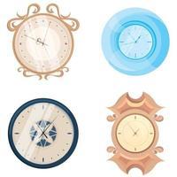 conjunto de diferentes relojes de pared. vector