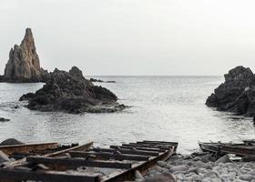 hermoso paisaje con mar foto
