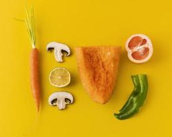 Composition of healthy vegetables photo