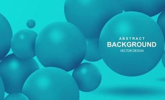 Abstract background with falling 3d balls vector