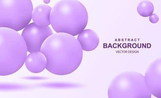 Fondo abstracto con bolas 3d que caen vector