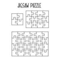 Mockup Jigsaw Puzzle for overlapping puzzles vector