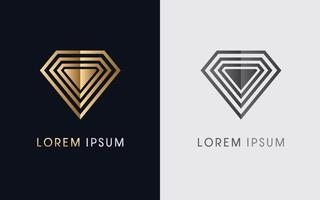 Modern Abstract Diamond Jewelry vector