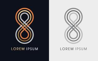 Infinity Loop Luxury Graphic vector