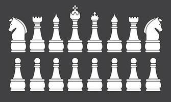 silueta de ajedrez blanco vector