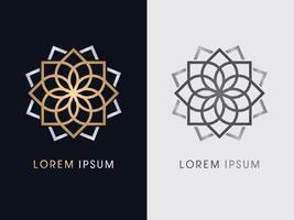 Luxury Lotus Flower Line vector