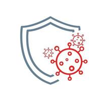 shield to protect from COVID-19 Coronavirus protection icon vector
