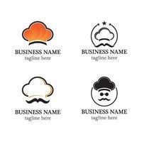 chef logo icon set design vector