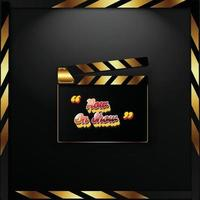promo cinema banner vector