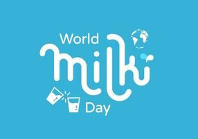 World milk day vector illustration