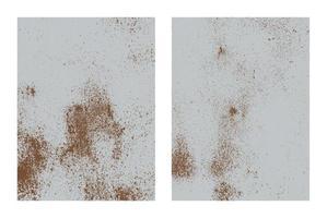 Rusty iron texture set. Rust and dirt overlay texture. vector