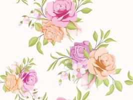 Diseño de plantilla de concepto floral de patrones sin fisuras para textiles y papel tapiz vector