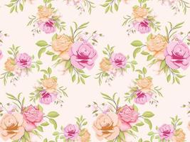 Seamless Pattern Floral Concept Template Design for Textile and Wallpaper vector