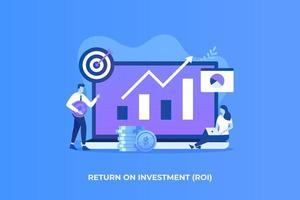 Flat illustration of Return on investment concept