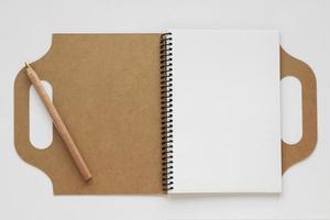 composición del diario de material reciclado foto