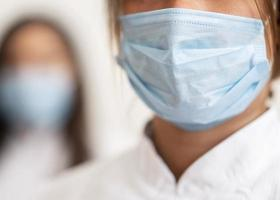 Doctors wearing face mask photo