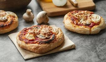 Creative assortment with delicious pizza photo
