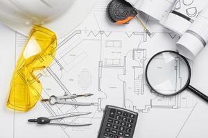 Engineering supplies blueprint photo