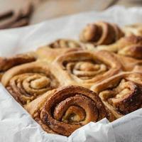 Cinnamon rolls assortment photo