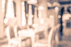 Abstract blur restaurant background photo