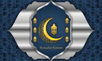 Ilustración de tarjeta de felicitación de Ramadán, fondo, volante, ilustración, folleto y fondo de venta vector