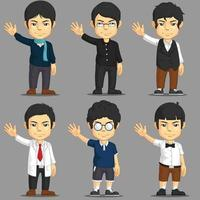 Dress up Game Character  Asset Man Cartoon Isolated Vector Drawing