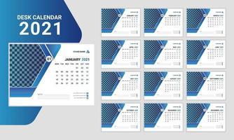 Plantilla de diseño de calendario de escritorio creativo profesional. vector