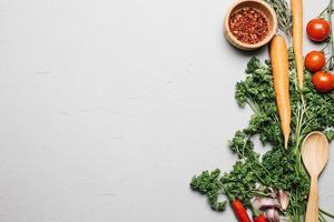verduras frescas de perejil foto