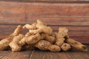 Pile of fresh ginger photo