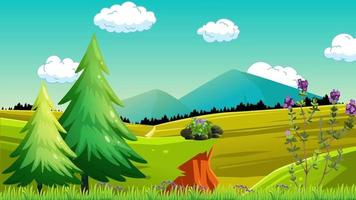 paisaje natural en temporada de primavera video