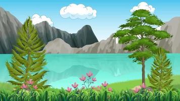 lac silencieux près des montagnes video