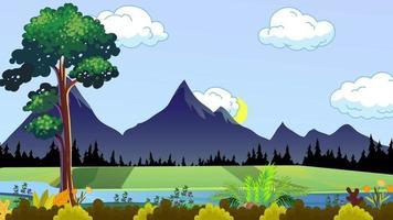 rivière et la plaine verte video
