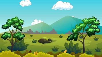 plaine verte et belle nature video