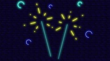 The Neon Lights Firecracker On The Wall video