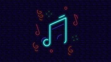 música dançando luzes de néon na parede video
