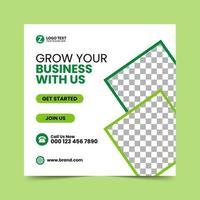 plantilla de diseño de publicación de redes sociales verde vector