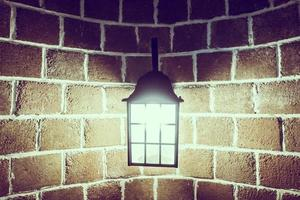 decoración de la lámpara en la pared foto