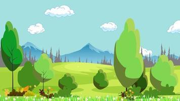 parque natural verde perto das montanhas e da selva video