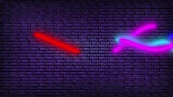 coloridas luces de neón decorativas en la pared video