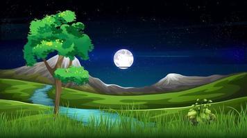 lua cheia e estrelas estão brilhando no céu video