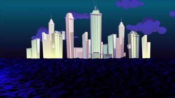 la gran ciudad cerca del mar video