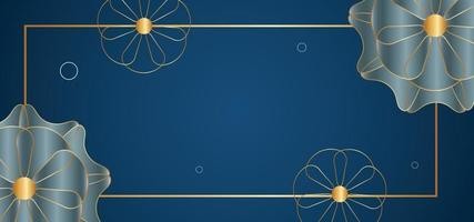 abstract flowers beautiful background or banner vector