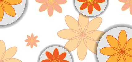 modern geometric yellow flowers beautiful background or banner vector