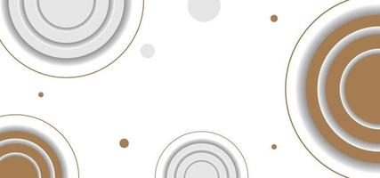 geometric shapes circles simple background or banner vector