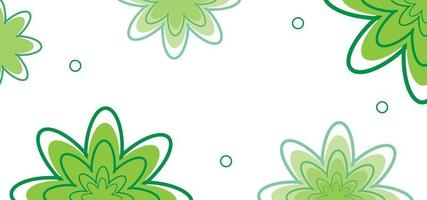 green floral seamless pattern or background vector