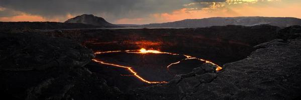On the Erta Ale active volcano photo